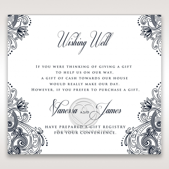 Imperial Glamour without Foil wishing well wedding invite card design