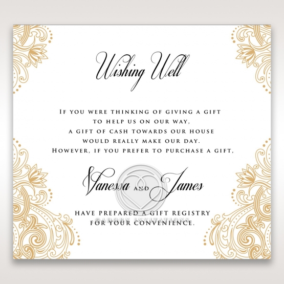 Imperial Glamour without Foil wishing well enclosure invite card
