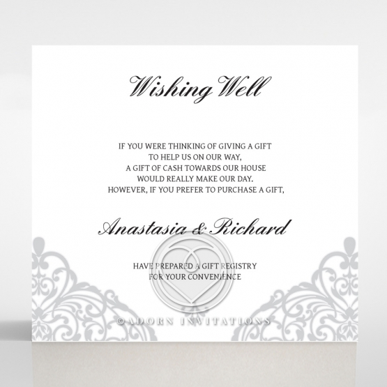 Modern Vintage wedding wishing well card design