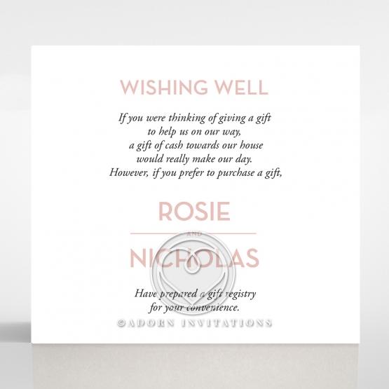 Pink Chic Charm Paper wedding gift registry invite card design