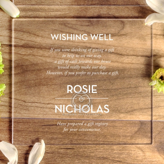 Silver Chic Charm Acrylic gift registry stationery