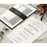 Black and Chic Letterpress - Wedding Invitations - WP-IC55-LP-04 - 179043