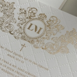 Quilted Regal Allure with Crest Foiled Pocket - Wedding Invitations - WP307GG - 178453