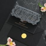 Intricate Royal Lace Half Fold - Wedding Invitations - PWI116142-F-GK-7610 - 178331