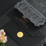 Intricate Royal Lace Half Fold - Wedding Invitations - PWI116142-F-GK-7610 - 178330