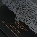 Intricate Royal Lace Half Fold - Wedding Invitations - PWI116142-F-GK-7610 - 178328