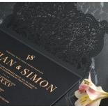 Intricate Royal Lace Half Fold - Wedding Invitations - PWI116142-F-GK-7610 - 178326