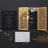Grandoise Golden Botanical Gates - Wedding Invitations - PWI116022-NV-7615 - 178304