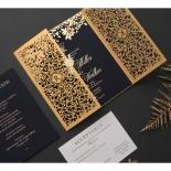 Grandoise Golden Botanical Gates - Wedding Invitations - PWI116022-NV-7615 - 178303