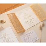 Letterpressed & Foiled Golden Botanical Gates - Wedding Invitations - PWI116022-DG-C-7618-7626 - 178535