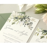 Gold Glam Greenery - Wedding Invitations - WP-CP02-GG-01 - 179091