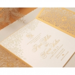 Letterpressed & Foiled Golden Botanical Gates - Wedding Invitations - PWI116022-DG-C-7618-7626 - 178534