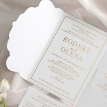 Mesmerising Solid White Pocket - Wedding Invitations - WPSP-01 - 178232