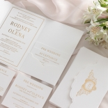 Mesmerising Solid White Pocket - Wedding Invitations - WPSP-01 - 178231