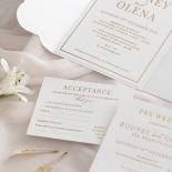 Mesmerising Solid White Pocket - Wedding Invitations - WPSP-01 - 178230