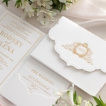 Mesmerising Solid White Pocket - Wedding Invitations - WPSP-01 - 178229
