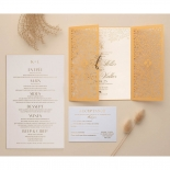 Letterpressed & Foiled Golden Botanical Gates - Wedding Invitations - PWI116022-DG-C-7618-7626 - 178532