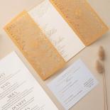 Letterpressed & Foiled Golden Botanical Gates - Wedding Invitations - PWI116022-DG-C-7618-7626 - 178531