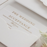 Mesmerising Solid White Pocket - Wedding Invitations - WPSP-01 - 178227