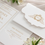 Mesmerising Solid White Pocket - Wedding Invitations - WPSP-01 - 178226