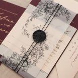 Scarlet Foiled Love Letter - Wedding Invitations - WP304GG - 178284