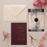 Scarlet Foiled Love Letter - Wedding Invitations - WP304GG - 178292