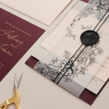 Scarlet Foiled Love Letter - Wedding Invitations - WP304GG - 178290