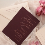 Scarlet Foiled Love Letter - Wedding Invitations - WP304GG - 178291