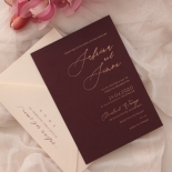 Scarlet Foiled Love Letter - Wedding Invitations - WP304GG - 178285