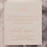 Shades of Grey and Blush with Rose Gold Foil  - Wedding Invitations - WP301GG - 178223