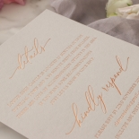 Shades of Grey and Blush with Rose Gold Foil  - Wedding Invitations - WP301GG - 178219