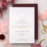 Embossed Monogram - Foil & Print - Wedding Invitations - WP302GG-7613 - 178408