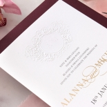Embossed Monogram - Foil & Print - Wedding Invitations - WP302GG-7613 - 178407