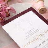 Embossed Monogram - Foil & Print - Wedding Invitations - WP302GG-7613 - 178405