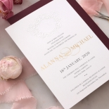 Embossed Monogram - Foil & Print - Wedding Invitations - WP302GG-7613 - 178404