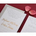Coloured Mehndi Letterpress with Gold - Wedding Invitations - WP001FB-EB-2 - 178168