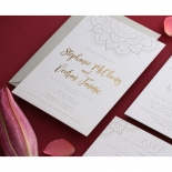 Coloured Mehndi Letterpress with Gold - Wedding Invitations - WP001FB-EB-2 - 178167