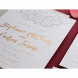 Coloured Mehndi Letterpress with Gold - Wedding Invitations - WP001FB-EB-2 - 178166