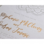 Coloured Mehndi Letterpress with Gold - Wedding Invitations - WP001FB-EB-2 - 178165