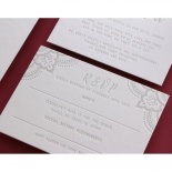 Coloured Mehndi Letterpress with Gold - Wedding Invitations - WP001FB-EB-2 - 178164