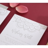 Coloured Mehndi Letterpress with Gold - Wedding Invitations - WP001FB-EB-2 - 178163