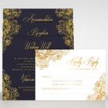 Imperial Glamour - Navy - Bridal Shower Invitations - PWI116022-NV-B - 176281