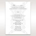 Enchanting Ivory Laser Cut Floral Wrap wedding stationery accommodation enclosure card