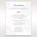 Floral Laser Cut Elegance wedding stationery accommodation invitation
