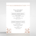 Gatsby Glamour wedding accommodation enclosure invite card