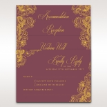 Imperial Glamour with Foil accommodation enclosure stationery invite card design