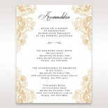 Imperial Glamour without Foil wedding accommodation card