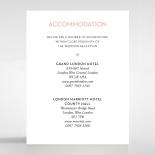 Pink Chic Charm Paper wedding stationery accommodation invitation card