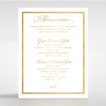Royal Lace with Foil wedding accommodation invite card