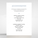 Silver Chic Charm Paper wedding stationery accommodation invite
